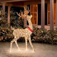 buy lewis pre lit reindeer decoration silver and white