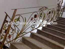 wrought iron stair ornamental handrails view removable stair