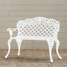 outdoor garden patio bench aluminum cast seat backyard finish