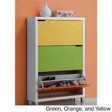 furniture lovely modern shoe cabinet in lovely color combination
