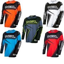 o neal motocross gear oneal element 2017 racewear motocross jersey motocross jerseys