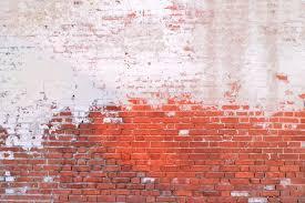 old brick wall painted half background u2014 stock photo avtor hell
