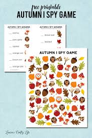 autumn i spy printable laura u0027s crafty life