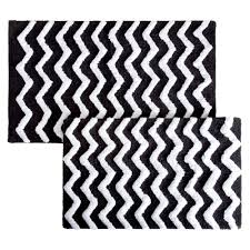 Black And White Chevron Rug Silver Bath Rugs U0026 Mats Mats The Home Depot