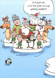 polar ice cap funny humorous christmas card by paper magic
