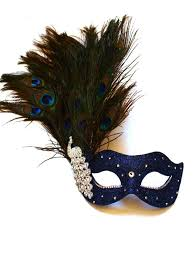 peacock masquerade masks monsoon navy blue silver peacock venetian masquerade