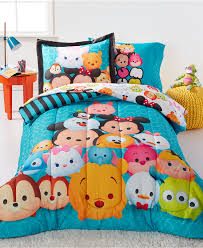 Bright Comforter Sets Disney Tsum Tsum Teal Stacks 5 Piece Bedding Collection Disney