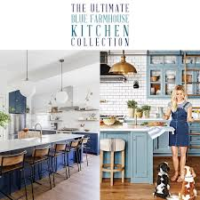 modern country kitchen with oak cabinets the ultimate blue farmhouse kitchen collection the cottage