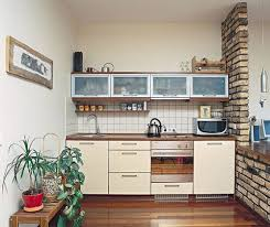 ideas for small kitchen designs small kitchen with brick wall design quecasita