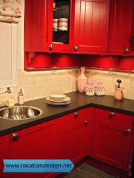 مطابخ مودرن باللون الأحمر ديكورات مطابخ pinterest