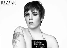 lena dunham strips down for harper u0027s bazaar cover feature lena