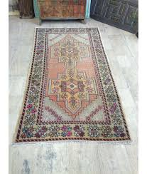 oushak rug 4 4x8 4ft muted pink rug distressed rug cappadocia rug