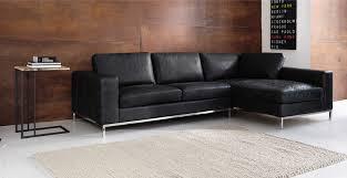 canapé d angle vintage canapé d angle vintage 4 places en cuir noir maisons du