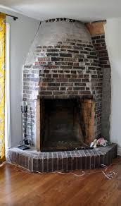 living room architecture fireplace surround created brick veneer