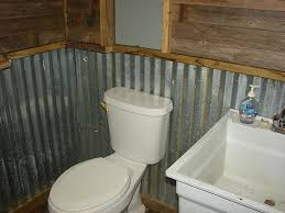 bathroom in garage aluminum wainscoting youth cheap first home start with style