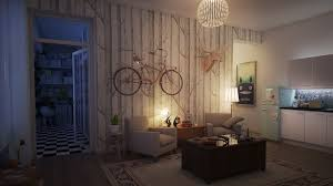 Living Room Lighting Apartment Apartments Warm Lighting Apartment With Table Lamps And Standing