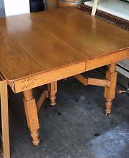 Antique Solid Oak Dining Table EBay - Antique oak kitchen table