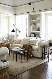 sofa beautiful tufted sofa living room gray rolled arm cowhide