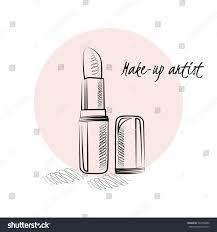 makeup artist business card vector template stock vector 394736680
