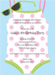 kids birthday party invitations beach u0026 pool party fun swimming