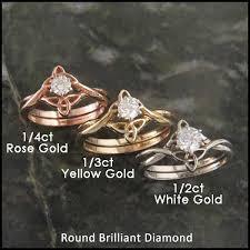 wedding set rings diamond celtic interlocking wedding ring set walker metalsmiths