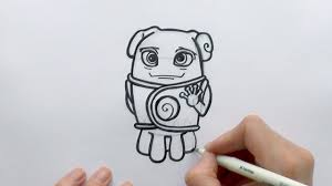 how to draw a cartoon oh the alien from the movie home zooshii