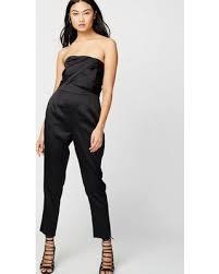 roy jumpsuit on sale now 60 roy faux bow jumpsuit black