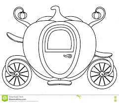 coloring pumpkin cinderella u0027s carriage stock vector image 77078076