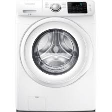 samsung 4 2 cu ft high efficiency front load washer in white