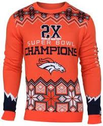 nfl miller denver broncos klew loud player crew neck sweater