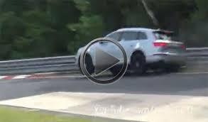 audi carousel audi sq7 prototype crashes on the nurburgring carousel