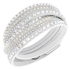 swarovski white bracelet images Swarovski slake white fabric crystal deluxe bracelet 5120520 jpg
