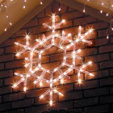 Lighted Christmas Window Decorations by Lighted Snowflakes U0026 Stars Yard Envy