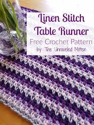 Crochet Table Runner Pattern Linen Stitch Crochet Table Runner Free Pattern The Unraveled Mitten