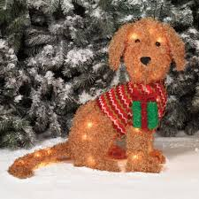 lighted dog christmas lawn ornament outdoor christmas decorations ideas walsall home and garden design