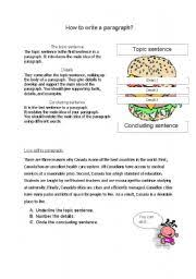 worksheet how to write a paragraph