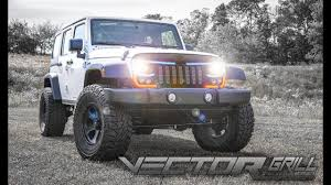 jeep wrangler front grill sema debut the oracle lighting vector series grill for the jeep