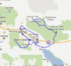 joshua tree california map california bicycle tours palm springs joshua tree cycling escapes