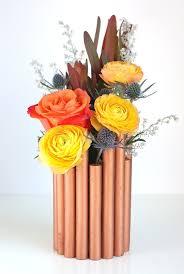 Copper Flower Vase Diy Faux Copper Pipe Vase Oleander Palm