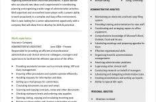 administrative assistant resume templates jospar
