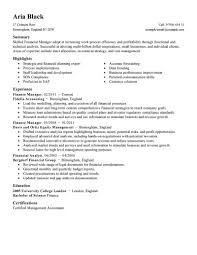 resume objective exles general accountant roles allocation best finance manager resume exle livecareer