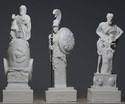 hephaestus u0026 ares u0026 goddess ατηενα set of 3 greek gods statue