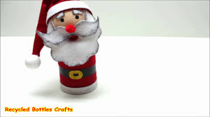 recycled crafts ideas diy santa christmas gifts plastic bottles