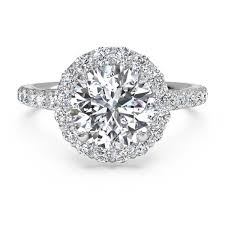 circle engagement ring with halo solitaire engagement ring with halo and pave band store home