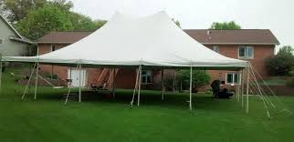 backyard tent rental 30 x 40 rope and pole tent rental in iowa city cedar rapids