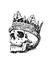 skull crown drawing by santiago ballesteros