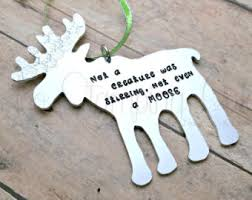 moose ornament etsy