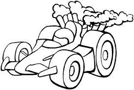 race car color pages kids coloring