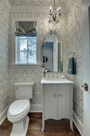 Wainscoting Small Bathroom by Powder Room White Marble Wainscoting Geometric Molding Detail On