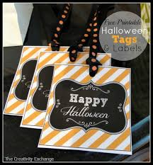 printable halloween tags labels and sign